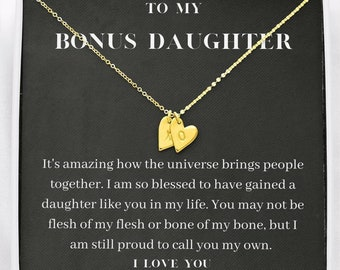 Muse Infinite Step Daughter Gift Idea Bonus Daughter Gift Necklace Blended Family Stepdaughter Quote Card Daughter of Bride from Other Mom