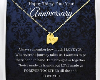 34th Wedding Anniversary 1987 Gift Coin Keyrings In Gift Bag