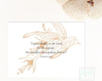 Autumn Bible Verse Digital Card, Thanksgiving Bible Verse Digital Card, Holiday Digital Gift Card, Thanksgiving Card, Fall Digital Card