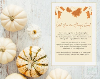 Thanksgiving Poem Home Decor, Thanksgiving Holiday Printable Decor, Thanksgiving Poem Wall Art, Thanksgiving Poem Printable, Holiday Art