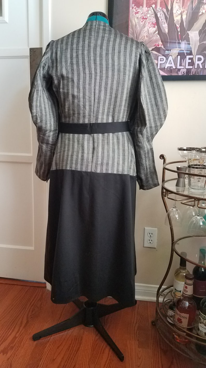 Vintage Reproduction 1930s Suit Dress with puffed sleeves