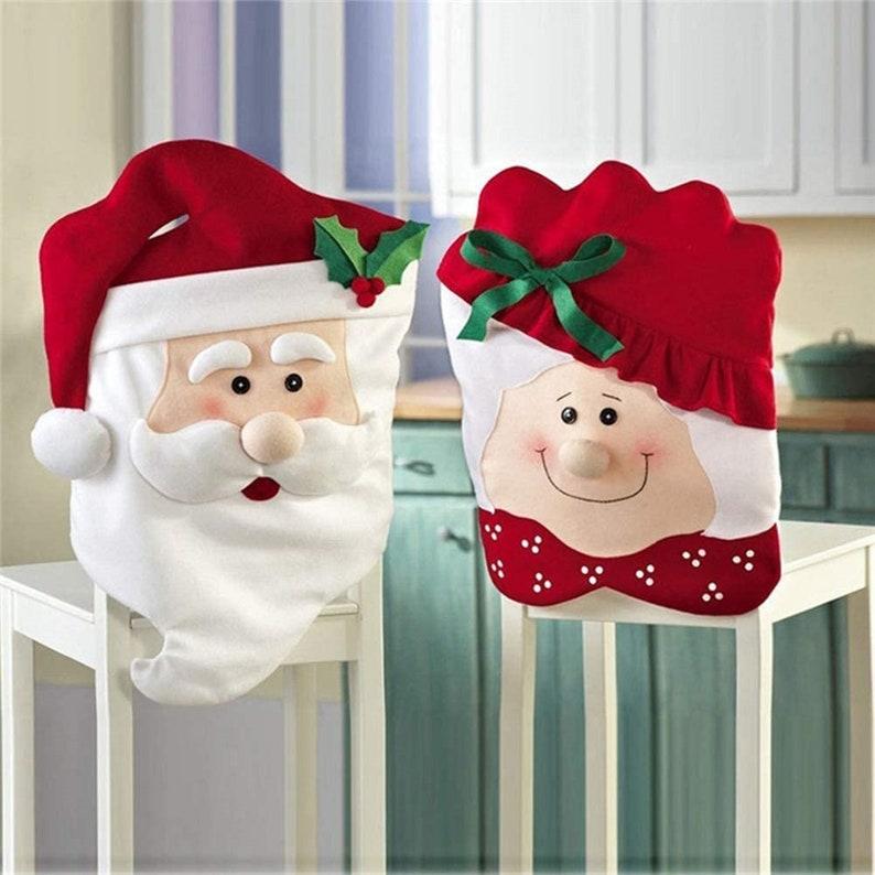 Christmas Chair Back Slip Covers