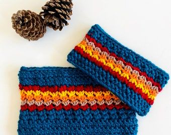 Knitted Headband   Neck Warmer   Crochet Headband