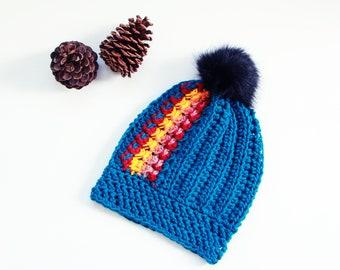 Slouchy Beanie Women   Crochet Hat   WInter Hat