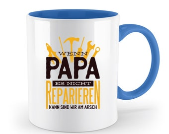 Dad Dad - Two-Tone Dad Gift, Dad Birth, Father's Day Gift, Coffee Cup, Funny Cup, Father-to-Be,