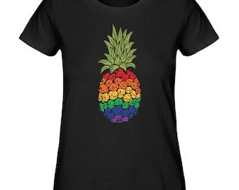 Pride T-Shirt Rainbow T-Shirt / Pride Gift / LGBT Flag Tshirt / Gay Pride / Sweet LGBTQ Shirt - Women Premium Organic Shirt Organic