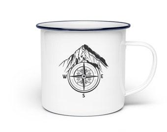 Enamel Mug Enamel Cup Camping Mug Camping Mug Coffee Mug Caravan Camper Camping Funny Gift Mug