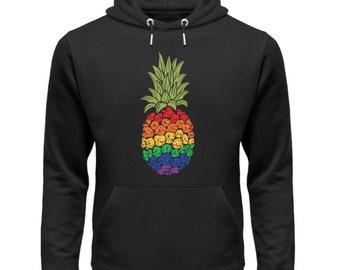 Pride Hoodie Rainbow Hoodie / Pride Gift / LGBT Flag Hoodie / Gay Pride / Sweet LGBTQ Hoodie - Unisex Organic Hoodie Organic