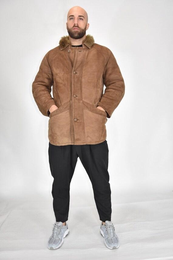 Shearling original suede sheepskin coat Size XL Ma