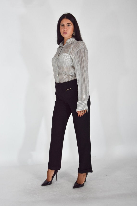 GUCCI Classic Black Rayon Trousers Size IT 46 - XL