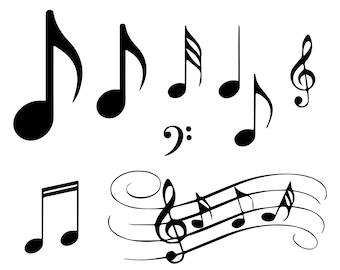 Music SVG Bundle  Music Notes SVG  Musical Notes Cut File  Treble Clef Music  Svg Png Cricut Eps files  Silhouette Cut Files Dxf