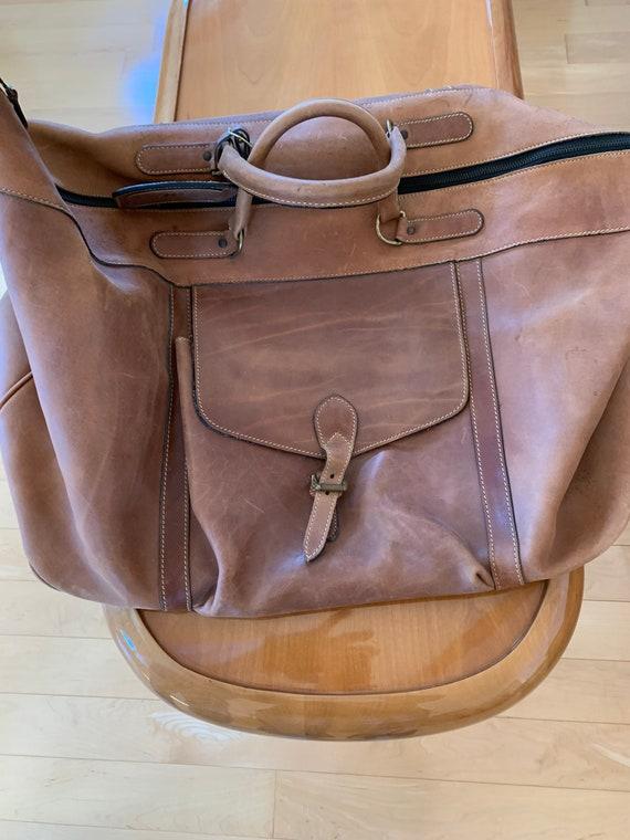 Leather Duffel/Traveler's Bag