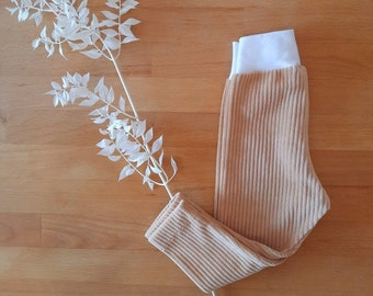 Leggings with cuffs in cord jersey