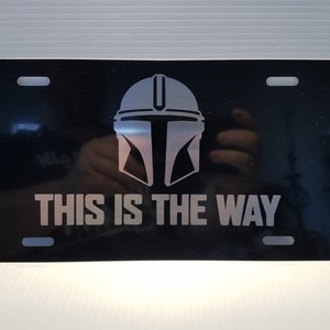 Homao Star Wars Mandalorian This is The Way License Plate Tag Frame Cover 6 X 12 Inches