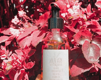 Body and Face oil with Rose hip and Pomegranate oil.