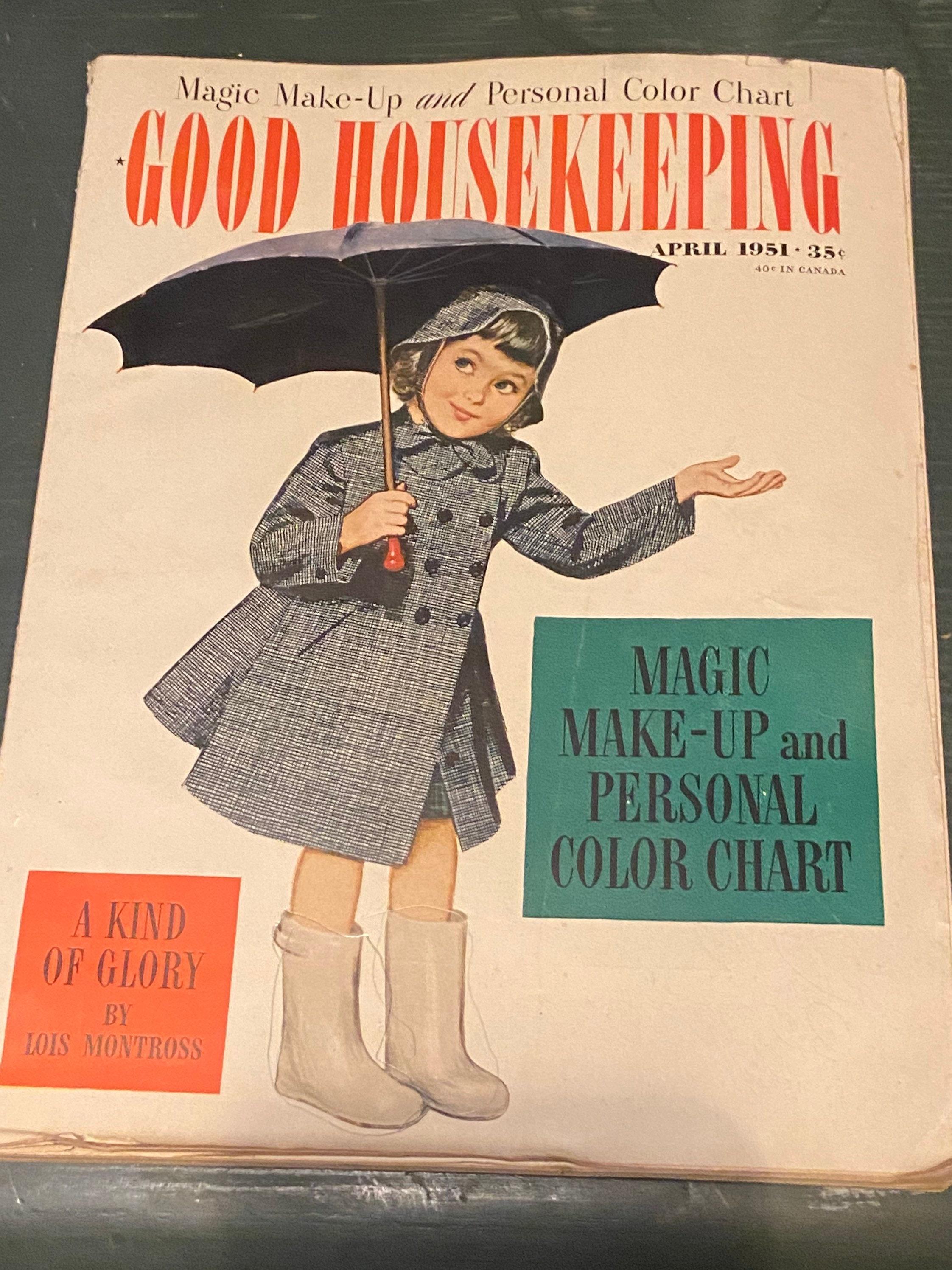 Gute Haushaltsführung April 1951. Mädchen mit dem