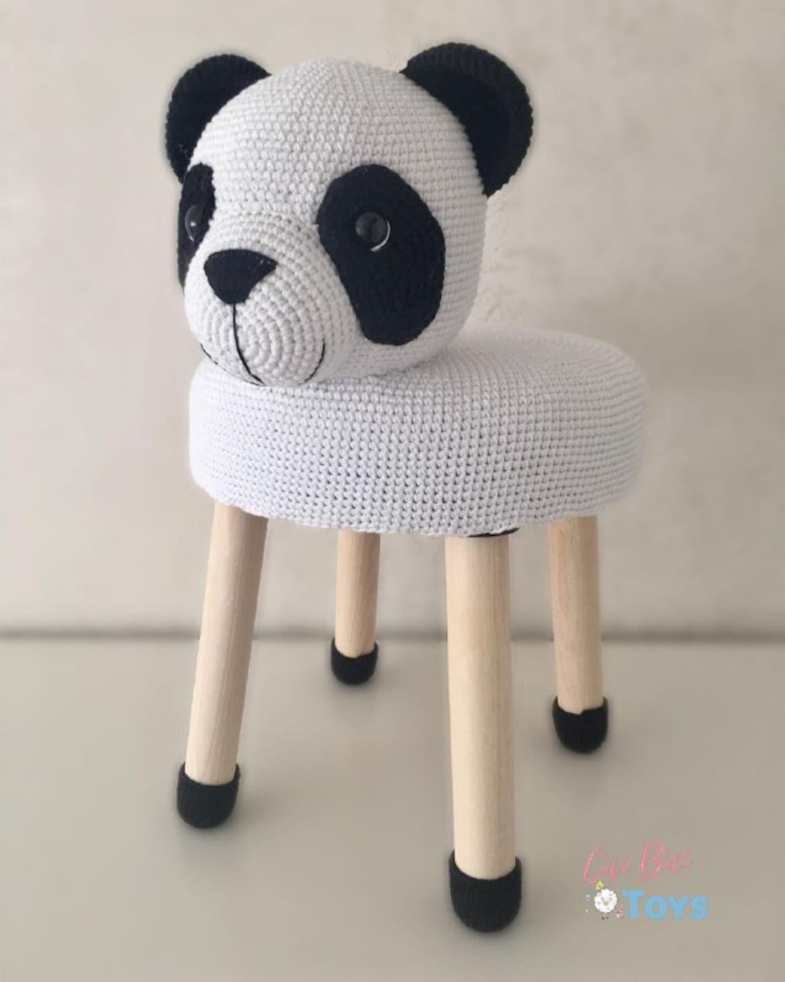 Amigurumi Children's Stool Panda Knitting Toys