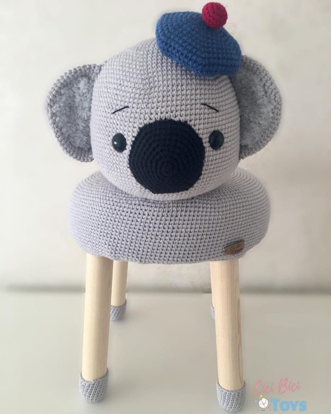 Amigurumi Children's Stool Koala Knitting Toys