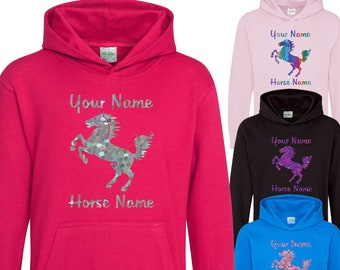 HORSE RIDING PONY RIDING FUNNY Equestrian HOODIE KIDS /& ADULT  EAT MY DUST