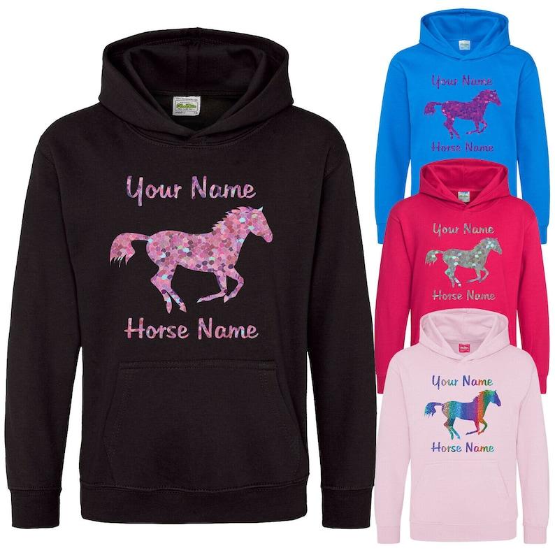 horse riding horse hoodie equestrian hoodie Personalised kids horse hoodie horse riding hoodie Design your own hoodie custom hoodie