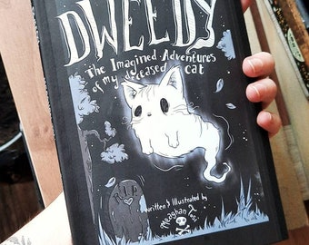 Dweedy: The Imagined Adventures of my Deceased Cat (HANDMADE Edition) Zine/ Comic / Graphic Novel / Indie / Illustration / Spooky / Cute