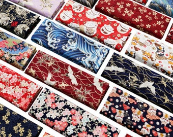 Width 59'' Japanese Fabric - Pure Cotton - Sewing Fabric by the half yard