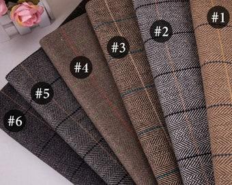 6 Style Vintage Wool Fabric - Coat Fabric - woolen fabric - winter warm coat handmade fabric - by the yard