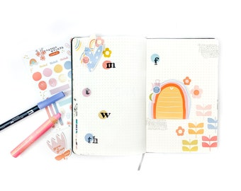 """Vinyl Planner Stickers  - """"Noted""""  - AirPod Stickers - Tumbler - Laptop - Journal - Bullet Journal"""