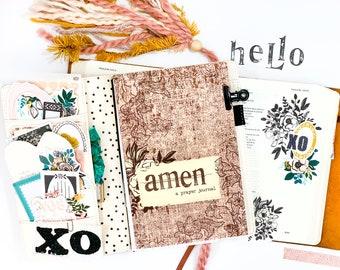 Amen Prayer Journal | Travelers Notebook | Faith Journal