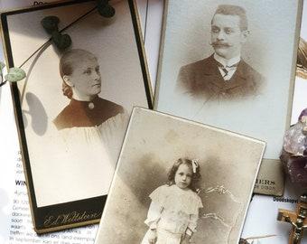 Carte de Visite woman and child CDV Edwardian man