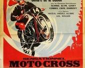 Veedol Moto-cross vintage garage workshop man cave retro metal tin sign