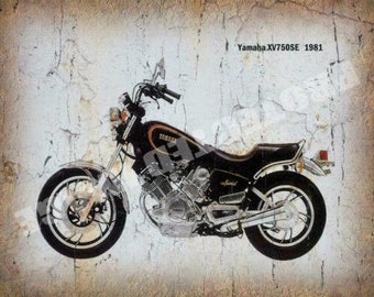 Tin Sign Vintage Star Motorcycles Yamaha