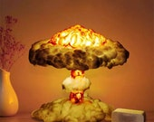 Explosion Mushroom Cloud - LED Night Light Nuclear Science Bed Lamp Gaming Room Kids Bedroom Gift Ideas Cool Lights by Viral Warehouse