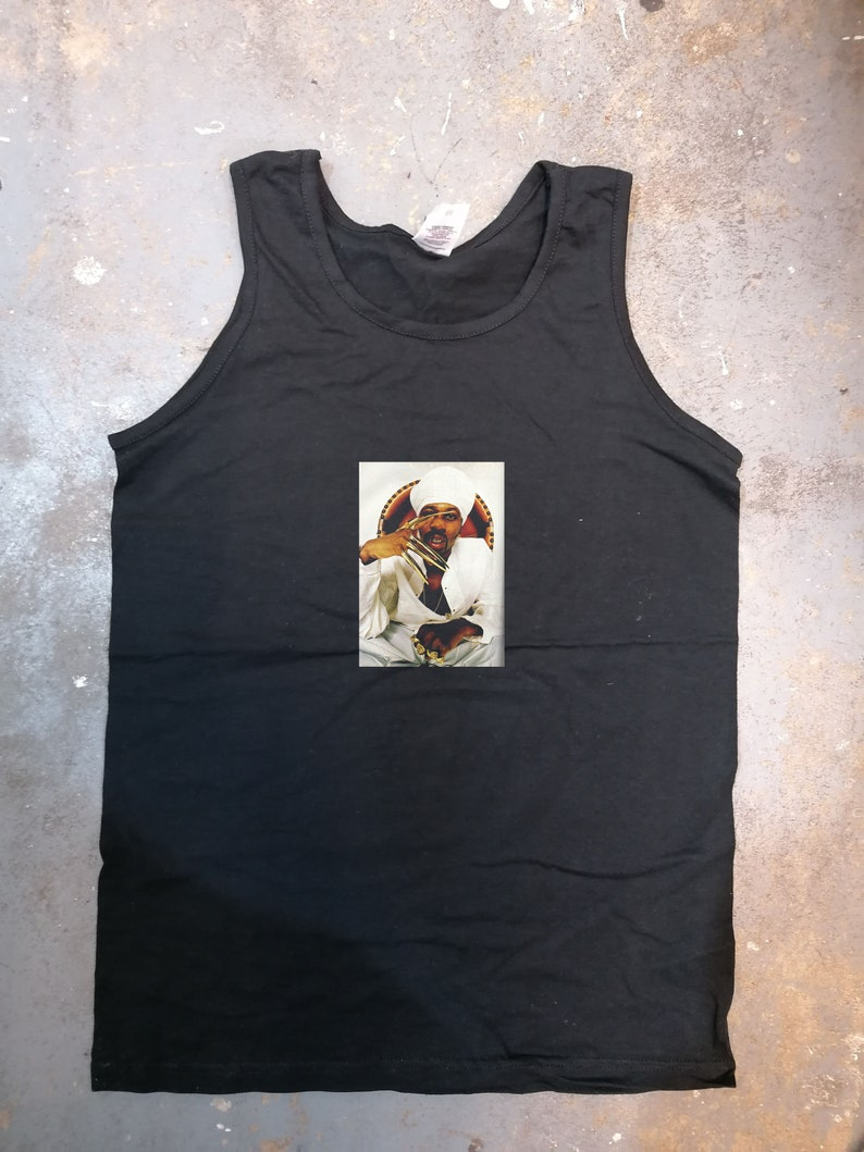 Art Design vest Graphic Design vest gift Novelty vest a variety of rza customised black vest all sizes available