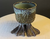 Tectonic pot - Ceramic Planter with feet - One of a kind