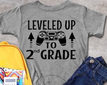 Boy's Second Grade Shirt, 2nd Grade Shirt, For Gamer Boys, Gamer Dude Shirts, First Day of School Shirts For 2nd Grade, Back To School Shirt