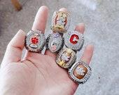 6 Clemson Tigers football championship ring set, Clemson University Fighting Tigers champion ring, 1981, 2015, 2016, 2018, 2019 ring set