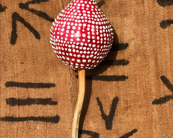 White spotted Red Gourd Shaker