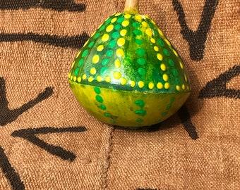 Green Acorn gourd shaker