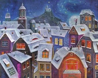 Advent Calendar, Large, Christmas Calendar, Door Calendar, Traditional, Christmas, Christmas Decoration, Paper, Gift Idea