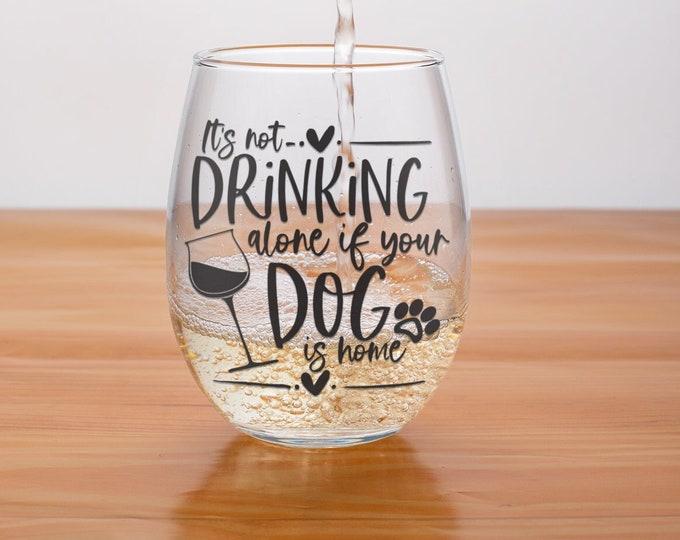 Dog Mom Wine Glass | Christmas Wine Gift| Christmas 2021 | Seasonal Stemless  |  Elephant Gift | Stemless wine glass | Birthday for Mom