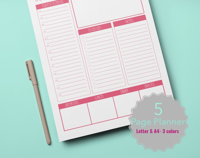 Productivity Planner | Desk Weekly Planner | Daily Planner | Monthly Planner | Academic Planner | Student Planner | Planner Inserts | To Do