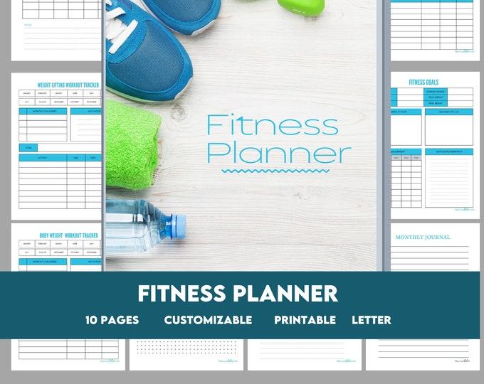 Fitness Tracker | Printable Fitness Planner, Goal Setting Fitness Journal