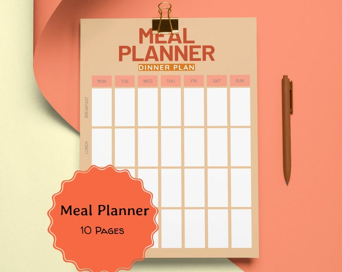 Printable Meal Planner,  Meal Planning, Pantry Organization,  Printable Menu,  Weekly Meal Planner,  Monthly Planning, Grocery List