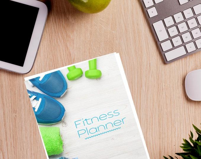 Fitness Journal, Goal Setting Fitness Journal, Exercise Tracker