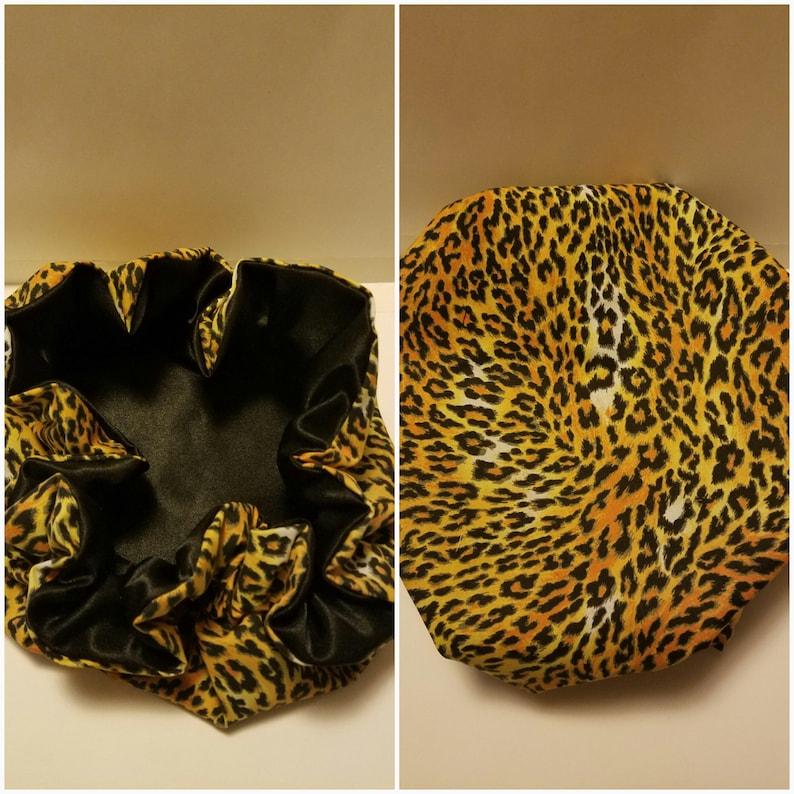Jungle Inspired Women Satin Bonnets