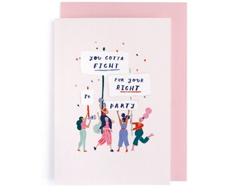 Feminist Quote Card For Her GC161 Female Friendship Card