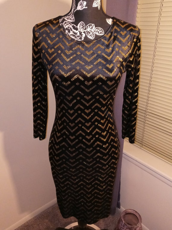 70's Inspired Chevron Dress