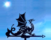 The Dragon Metal Weathervane, Weather Vane, Metal Decor