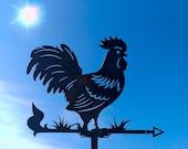 Rooster Chicken Metal Weathervane, Weather Vane, Metal Decor